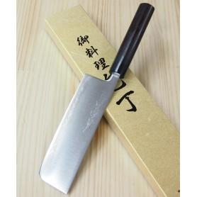 Faca japonesa nakiri YOSHIHIRO Super blue steel tam:16,5cm