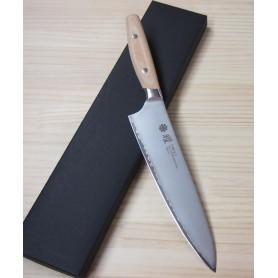 Faca japonesa do chef - gyuto - YAXELL - Série YO-U Bianco - Aço VG10 - Tam:21cm