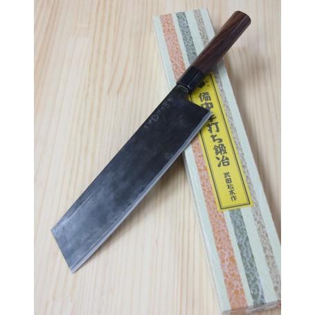 Faca japonesa kiritsuke artesanal TAKEDA HAMONO - Aço super blue steel - 24cm