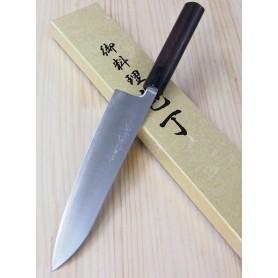 Faca japonesa do chef gyuto YOSHIHIRO Super blue steel tam:18/21/24cm