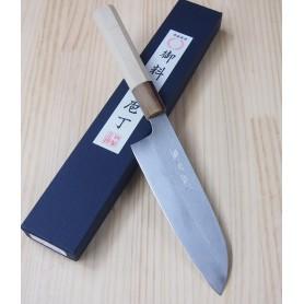 Faca japonesa santoku MIURA -Série Carbon white 2 - Tam:17cm