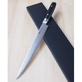 Faca japonesa sujihiki - slicer YAXELL - Série Ran - 69 camadas - 25,5cm