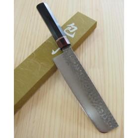 Faca japonesa nakiri MIURA KNIVES Série Aka tsuchime VG10 tam:18cm