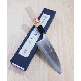 faca japonesa ajikiri SAKAI KIKUMORI - Aço white steel Tam:10.5 / 12cm