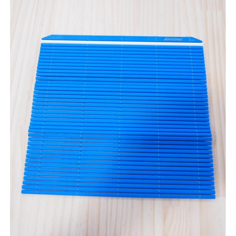 Esteira ( sudare ) profissional de plástico para sushi - Cor azul - Hasegawa Makisu