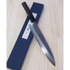 Faca japonesa do chef gyuto para destros SHIRAKI Aço blue steel 1 tam:24cm