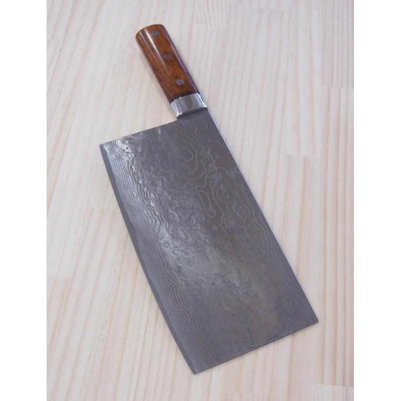 Cutelo chinês TAKESHI SAJI -Aço damascus R2 diamond finish -ironwood - Tam: 22cm