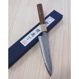 Faca japonesa petty MIURA -Série blue steel nashiji- Tam:15cm