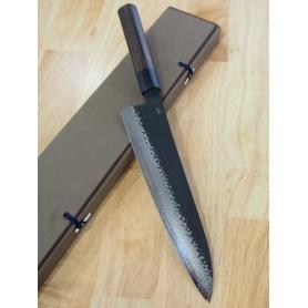 Faca do chef gyuto SHIZU HAMONO Série GEN VG-10 black damascus Tam:21/24cm