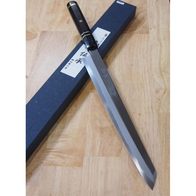 Faca japonesa kengata yanagiba SUISIN - Série Especial Densho - Custom handle - tam: 30cm