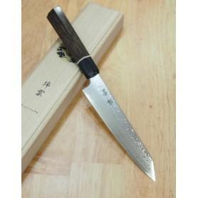 Faca japonesa petty kiritsuke SEKI KANETSUGU Série Zuiun SG2 damascus Tam:15cm