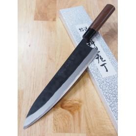 Faca japonesa do chef gyuto YAMAMOTO HAMONO Blue steel tam:21/24cm