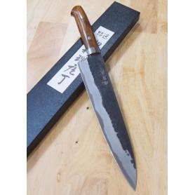 Faca do chef gyuto TAKESHI SAJI -Aço super blue steel kurouchi -ironwood handle- Tam:21cm