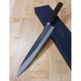 Faca japonesa sujihiki slicer ANRYU Série white steel damascus Tam:27cm